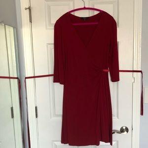 Express red wrap dress